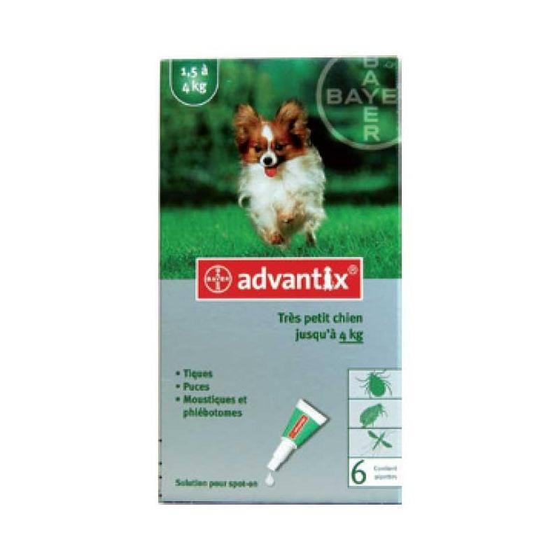 Pipette Insecticide Bayer Advantix 40 Tres Petit Chien 1-2Kg