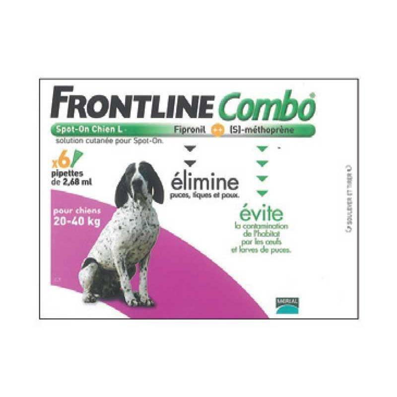 Pipette Insecticide Frontline Combo Chien L 20-40Kg