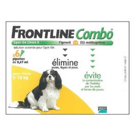 PIPETTE INSECTICIDE FRONTLINE COMBO CHIEN S 2-10KG