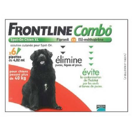 Pipette Insecticide Frontline Combo Chien Xl 40-60Kg