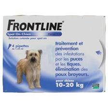 Pipette insecticide frontline spot on chien 10-20kg