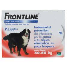 Pipettes insecticides frontline spot on chien xl (40-60kg)