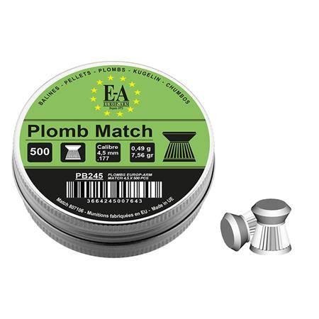 Plomb Pour Carabine Europ Arm Match Tête Plate - Calibre 4.5Mm