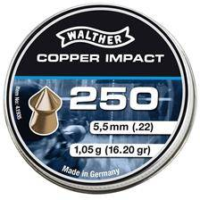 Plomb pour carabine walther copper impact - calibre 5.5 mm