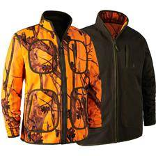 Polaire homme deerhunter gamekeeper reversible fleece jacket - gh camo/vert