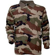 Polo manches longues homme percussion f1 polaire - camo
