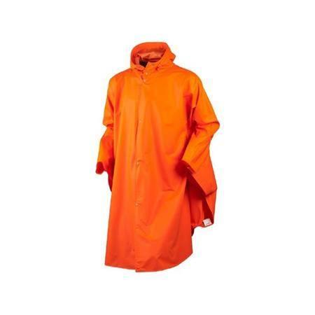 Poncho Homme Seeland Rainy - Orange Fluo