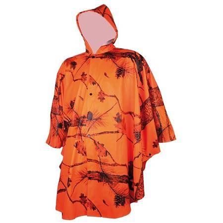 Poncho Homme Treeland T426 - Orange Camo