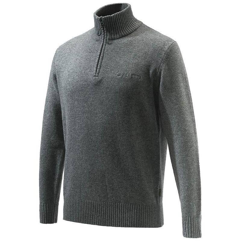 Pull Homme Beretta Dorset Half Zip Sweater - Gris