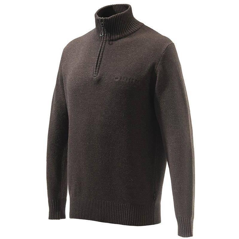 Pull Homme Beretta Dorset Half Zip Sweater - Marron