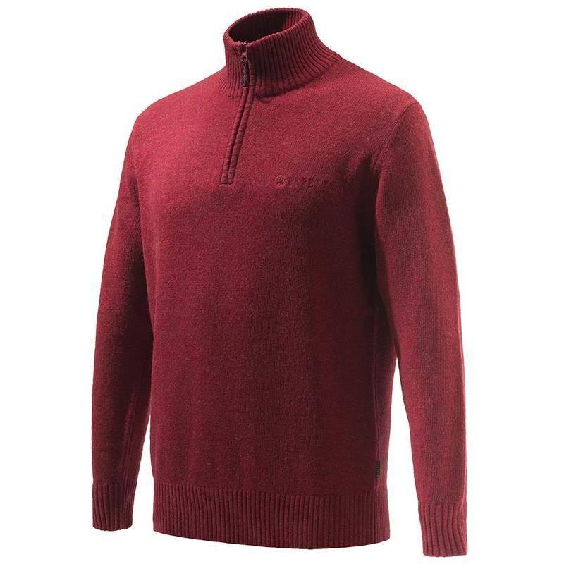 Pull Homme Beretta Dorset Half Zip Sweater - Rouge