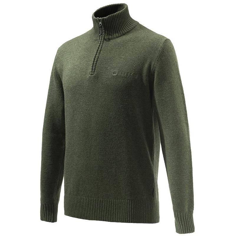 Pull Homme Beretta Dorset Half Zip Sweater - Vert