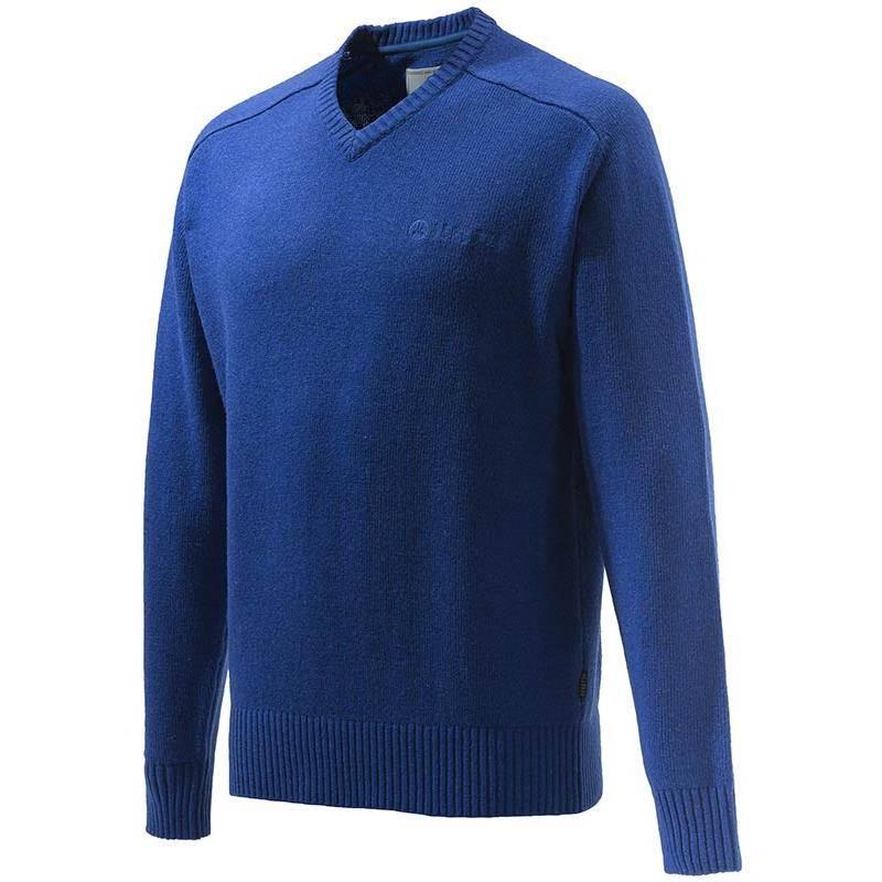 Pull Homme Beretta Somerset V-Neck Sweater - Bleu