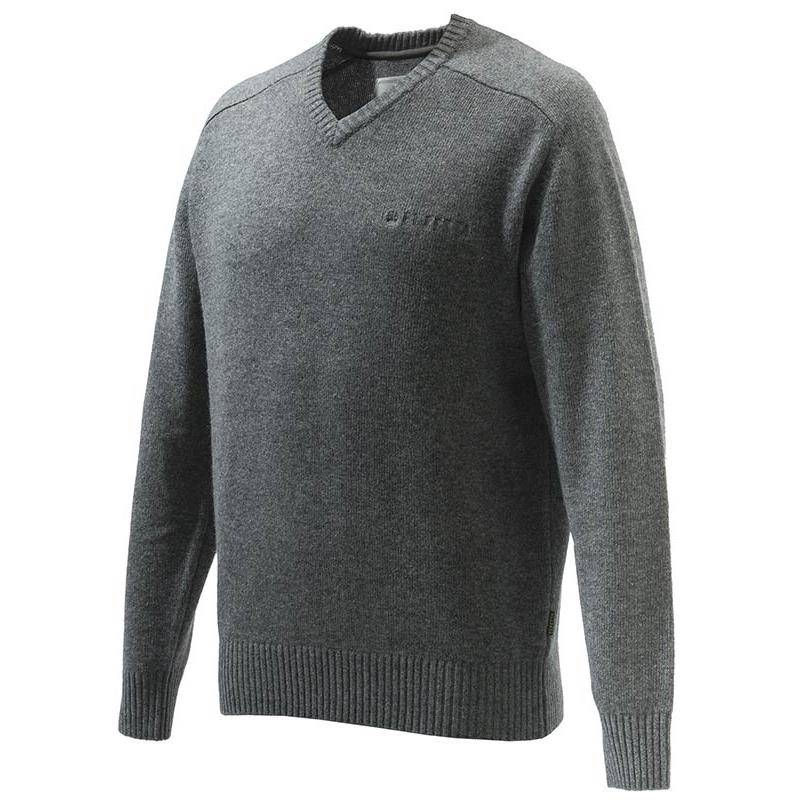 PULL HOMME BERETTA SOMERSET V-NECK SWEATER - GRIS