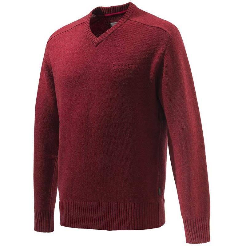 Pull Homme Beretta Somerset V-Neck Sweater - Rouge