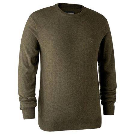 Pull Homme Deerhunter Kingston With O-Neck - Cypress
