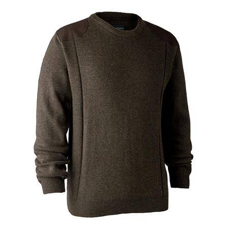 Pull Homme Deerhunter Sheffield With O-Neck - Marron