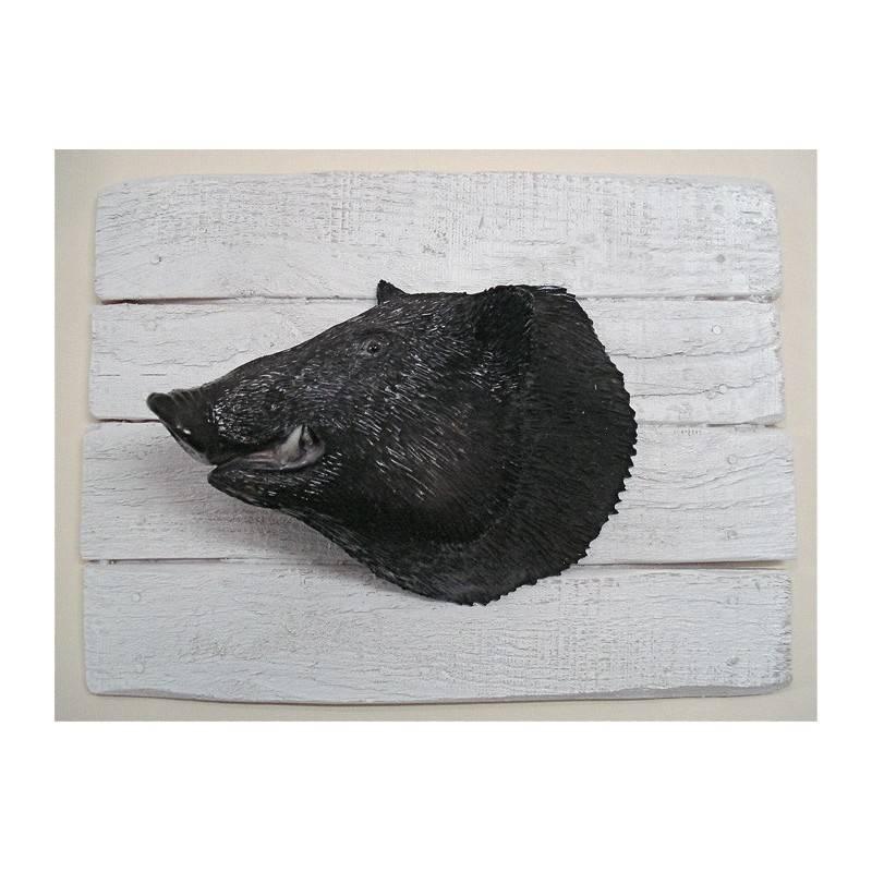 Sculpture Demi-Coque Cap Vert Sanglier