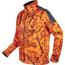 Softshell homme hart cross-s - camou orange