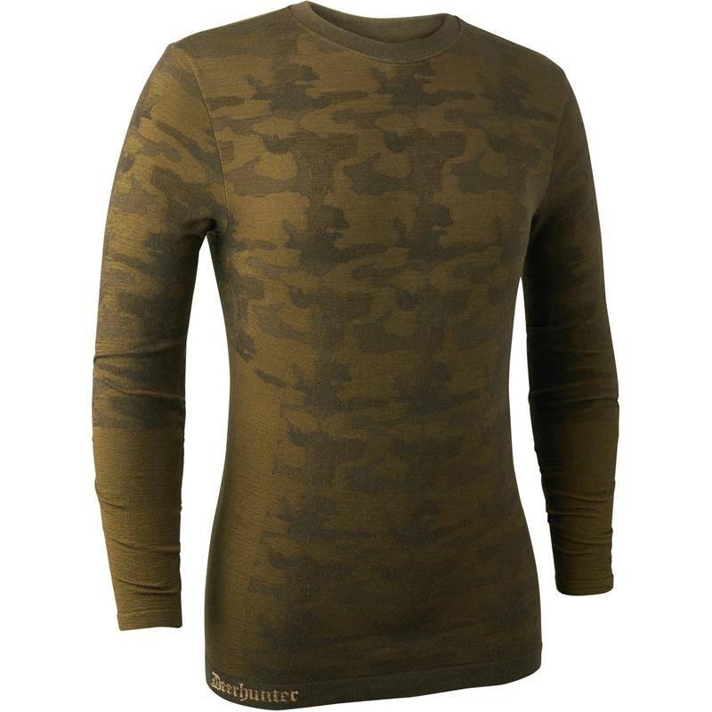 Sous Vetement Homme Deerhunter Camou Wool Shirt - Beech Green