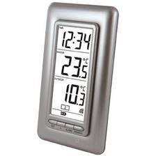Station thermometre la crosse technology interieur/exterieur - argent