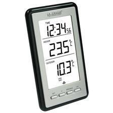Station thermometre la crosse technology interieur/exterieur - argent-noir