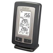 Station thermometre la crosse technology interieur/exterieur - gris/argent