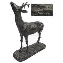 Statue bronze januel chevreuil gm