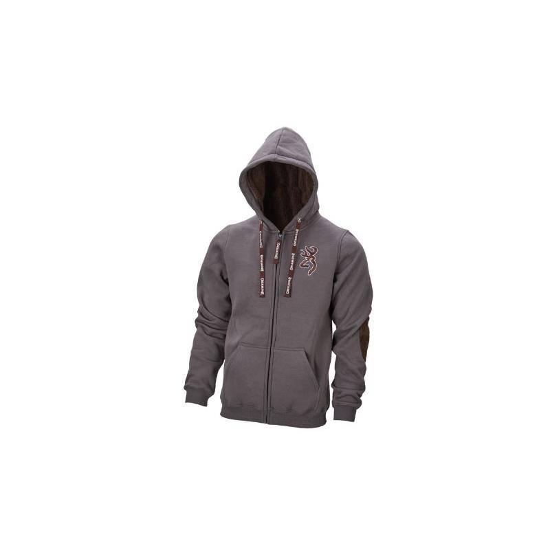 Sweat Homme Browning Sweatshirt Warm Snapshot - Gris