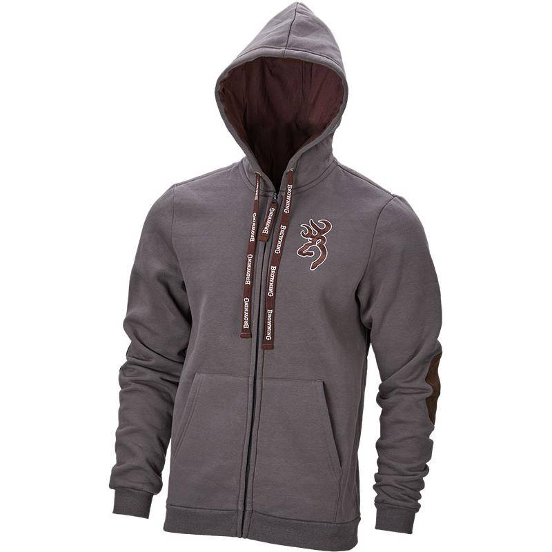 Sweat Homme Browning Sweatshirt Zip Snapshot - Gris