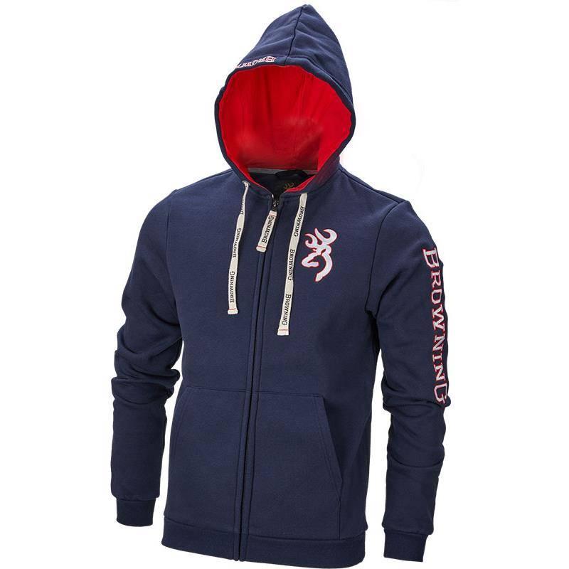Sweat Homme Browning Sweatshirt Zip Snapshot - Marine