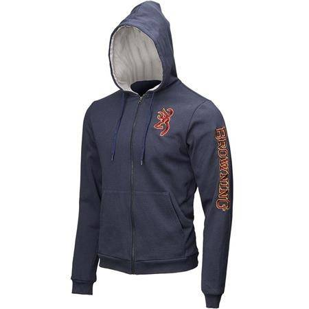 SWEAT HOMME ZIPPE BROWNING SNAPSHOT WARM - BLEU