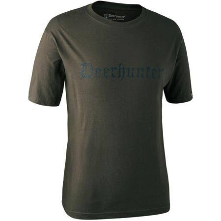 TEE SHIRT MANCHES COURTES DEERHUNTER LOGO S/S - BARK GREEN