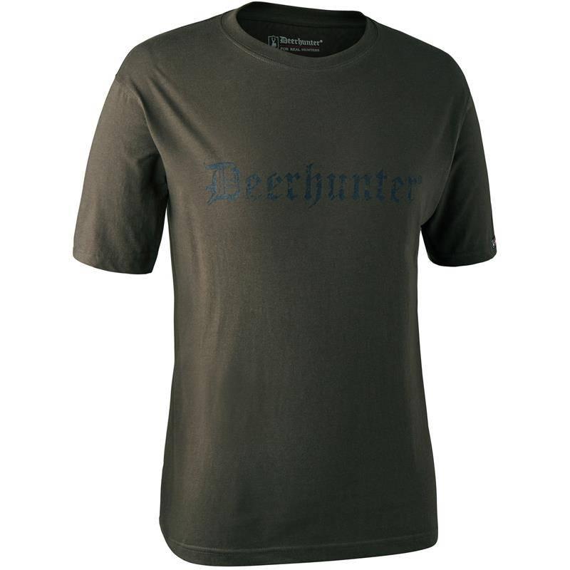 Tee Shirt Manches Courtes Deerhunter Logo S/S - Bark Green