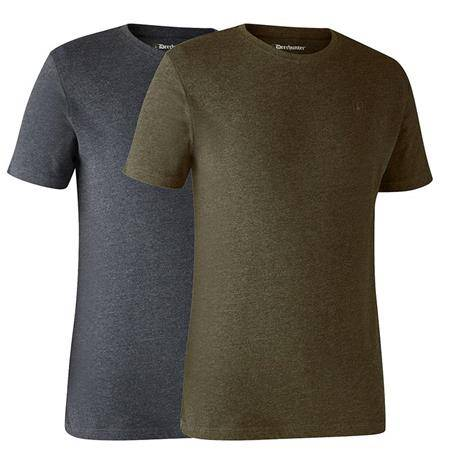 Tee Shirt Manches Courtes Deerhunter With Deer - Kaki/Gris - Par 2
