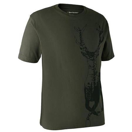 Tee Shirt Manches Courtes Deerhunter With Deer - Kaki