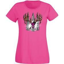 Tee shirt manches courtes femme supra - rose