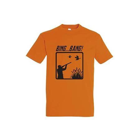 TEE SHIRT MANCHES COURTES HOMME BARTAVEL BING BANG T1169 - ORANGE