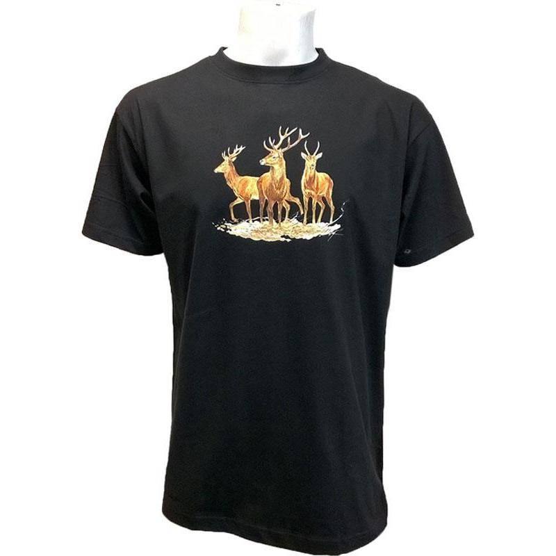 Tee Shirt Manches Courtes Homme Bartavel Cervides - Noir