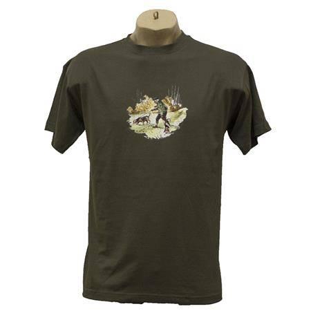 Tee Shirt Manches Courtes Homme Bartavel Humour - Kaki