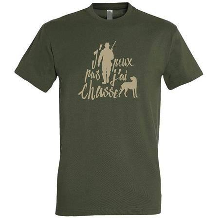 Tee Shirt Manches Courtes Homme Bartavel J'peux Pas J'ai Chasse T1170 - Kaki