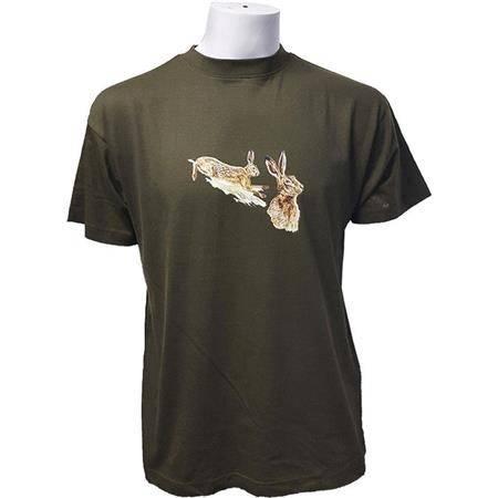 Tee Shirt Manches Courtes Homme Bartavel Lievres - Kaki
