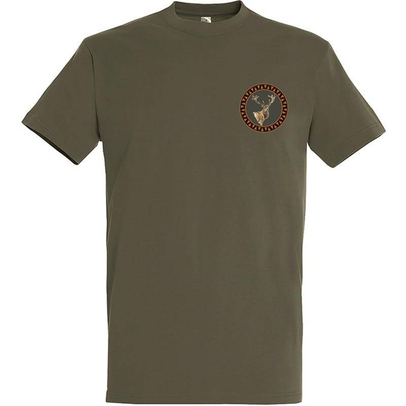 Tee Shirt Manches Courtes Homme Bartavel Petit Cerf - Kaki