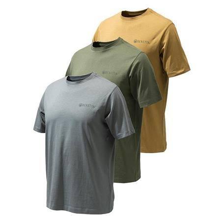 Tee Shirt Manches Courtes Homme Beretta Set Of 3 Corporate Ts - Par 3
