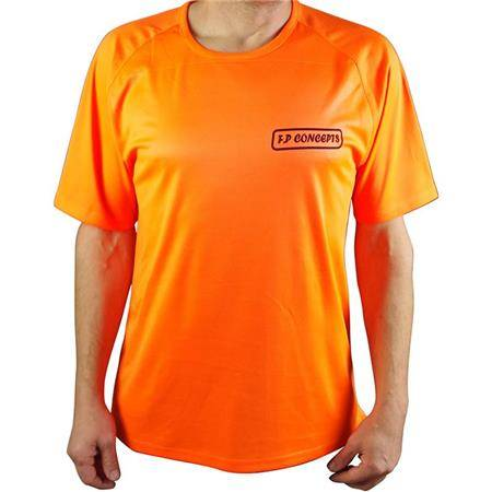 TEE SHIRT MANCHES COURTES HOMME F.P CONCEPTS - ORANGE