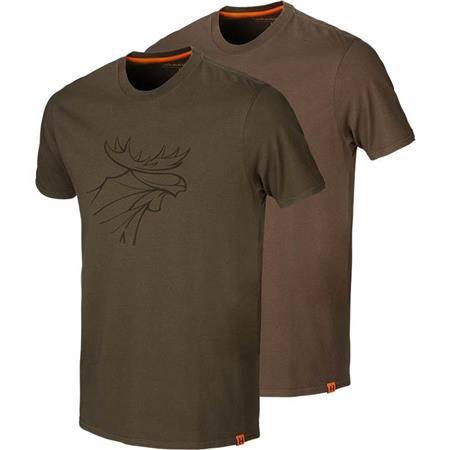 Tee Shirt Manches Courtes Homme Harkila Graphic - Vert/Marron - Par 2
