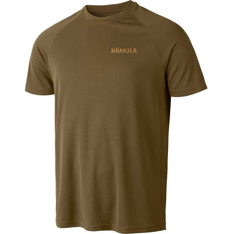 Tee Shirt Manches Courtes Homme Harkila Herlet Tech S/S - Kaki Clair