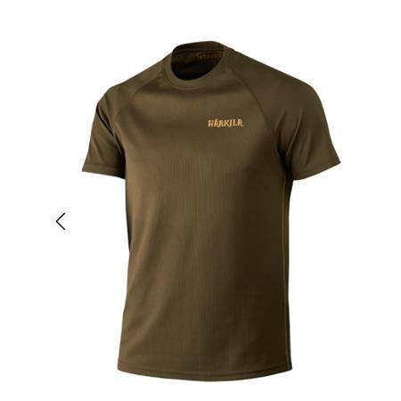 Tee Shirt Manches Courtes Homme Harkila Herlet Tech S/S - Vert