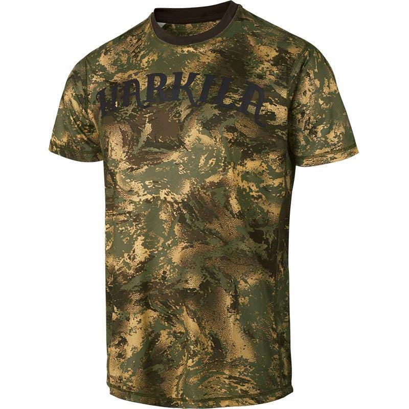 Tee Shirt Manches Courtes Homme Harkila Lynx - Forest Green