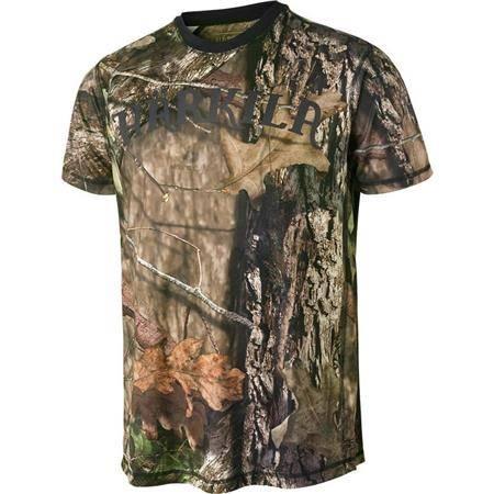 Tee Shirt Manches Courtes Homme Harkila Moose Hunter Camo S/S - Mossy Oak